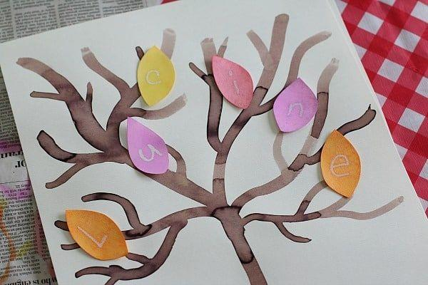 "<p>Little learners will love the interactive nature of this craft — if you write letters on the leaves in white crayon, they magically appear when you paint them with watercolors! Sneak a little reading lesson into your fall craft.</p><p><em><a href=""https://buggyandbuddy.com/fall-crafts-kids-mystery-letter-fall-tree/"" rel=""nofollow noopener"" target=""_blank"" data-ylk=""slk:Get the tutorial at Buggy and Buddy »"" class=""link rapid-noclick-resp"">Get the tutorial at Buggy and Buddy »</a></em></p>"