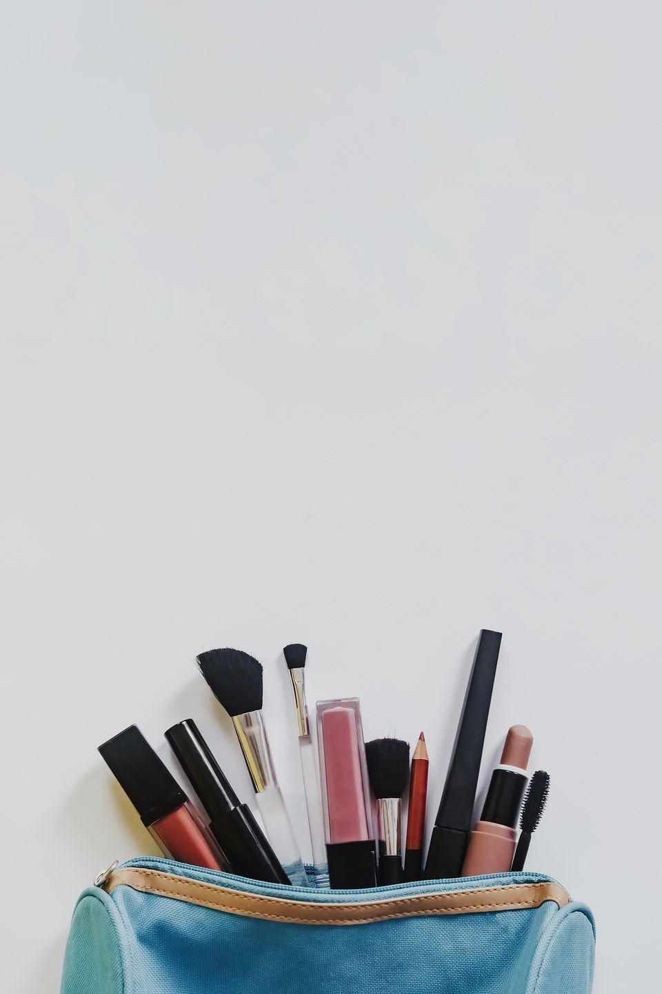 """<p>Beauty products—that is, lotions, <a href=""""https://www.oprahmag.com/beauty/skin-makeup/a22736070/how-to-clean-makeup-brushes/"""" rel=""""nofollow noopener"""" target=""""_blank"""" data-ylk=""""slk:makeup brushes"""" class=""""link rapid-noclick-resp"""">makeup brushes</a>, soaps, and other cosmetics—expire after anywhere from six months to a few years, based on product and usage. When organizing, follow this rule of thumb: If it looks, smells, or feels weird, toss it.</p>"""
