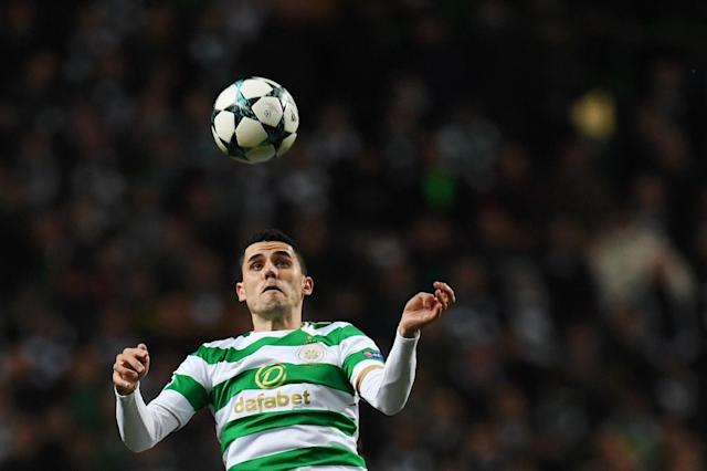 Tom Rogic, pictured in 2017, was among the goal scorers as Celtic thrashed Rangers in the Scottish Cup (AFP Photo/Paul ELLIS)