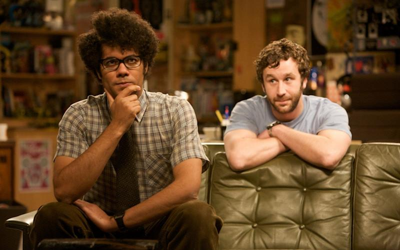 Richard Ayoade and Chris O'Dowd in Graham Linehan's The IT Crowd - Channel 4