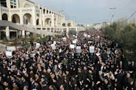 News that a US strike had killed Qasem Soleimani, one of Iran's most popular public figures, brought tens of thousands of protesters onto the streets of Tehran and other cities