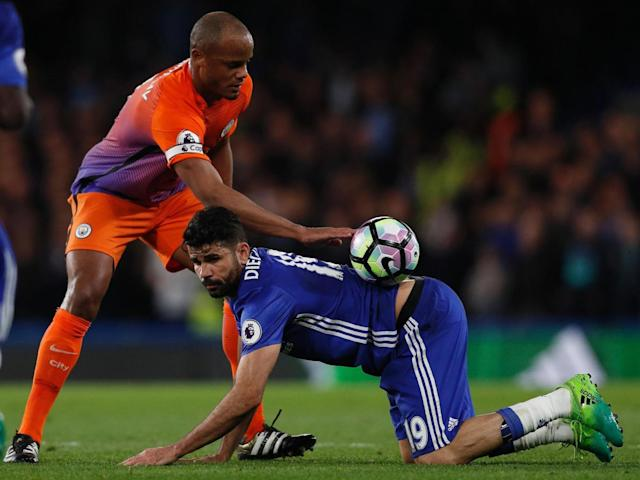 Kompany and Costa had a physical battle throughout (Getty)