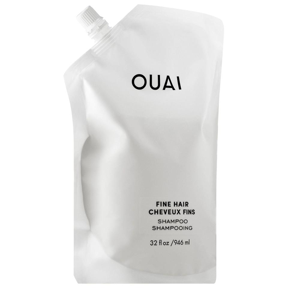 """<p><strong>OUAI</strong></p><p>sephora.com</p><p><strong>$56.00</strong></p><p><a href=""""https://go.redirectingat.com?id=74968X1596630&url=https%3A%2F%2Fwww.sephora.com%2Fproduct%2Fouai-haircare-fine-hair-shampoo-P455865&sref=https%3A%2F%2Fwww.thepioneerwoman.com%2Fbeauty%2Fhair%2Fg32690409%2Fbest-shampoo-for-thinning-hair%2F"""" rel=""""nofollow noopener"""" target=""""_blank"""" data-ylk=""""slk:Shop Now"""" class=""""link rapid-noclick-resp"""">Shop Now</a></p><p>This extremely gentle shampoo is perfect for people with color-treated hair. Designed to fight flatness and breakage, this formula is made with strengthening ingredients like chia seed oil and biotin. </p>"""