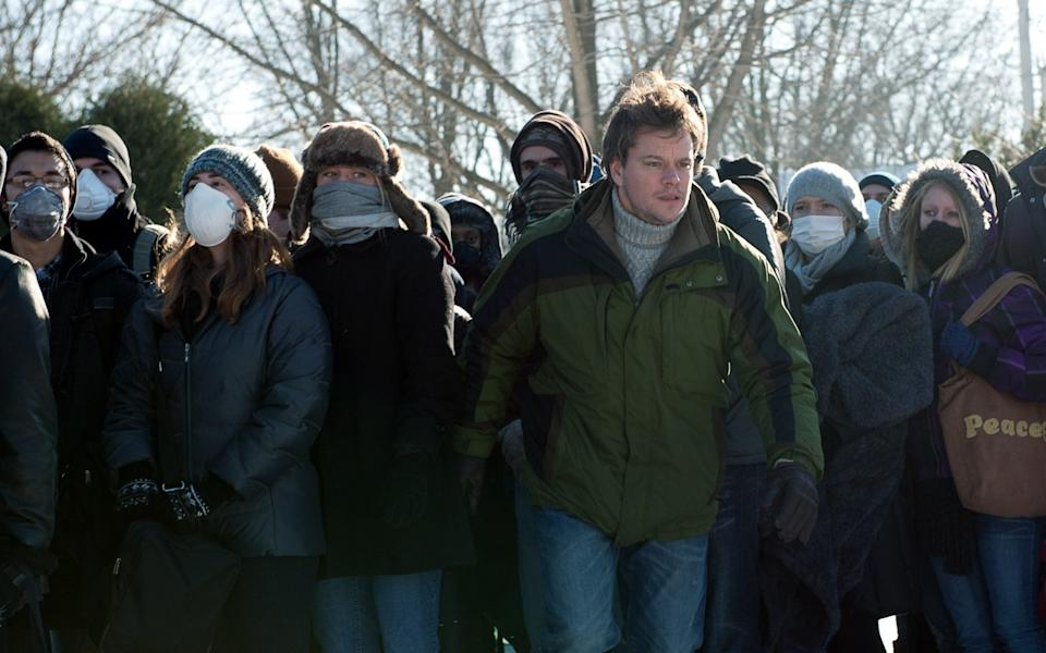 Matt Damon's everyman Mitch has to deal with the reality of the outbreak on the ground - Warner Bros