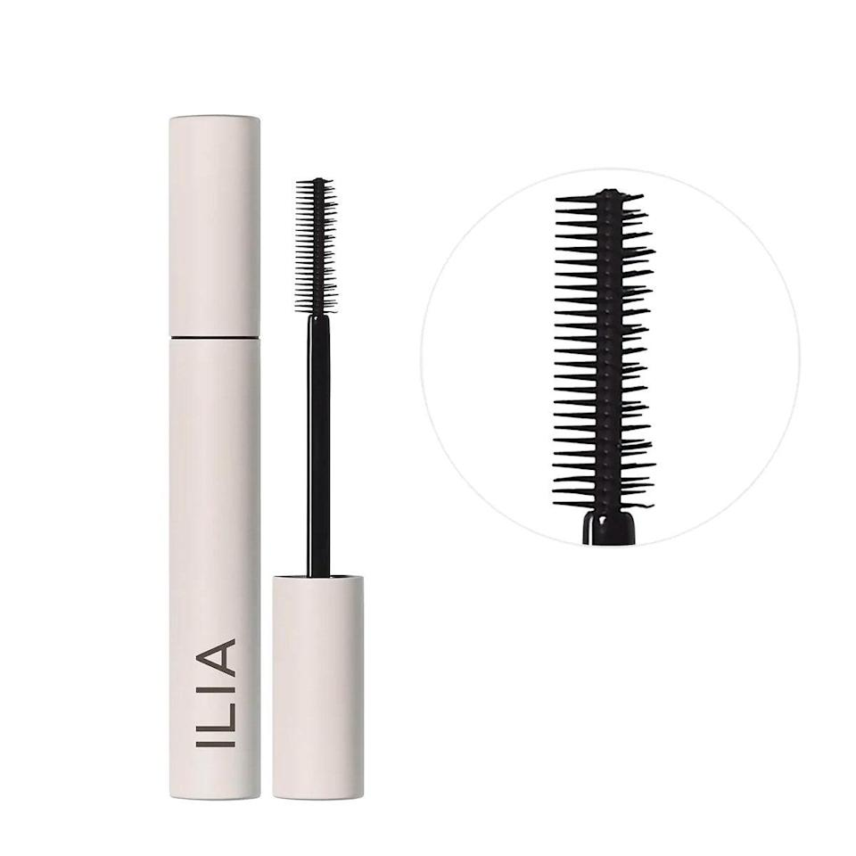 """A fan favorite and a <a href=""""https://www.glamour.com/gallery/best-mascaras?mbid=synd_yahoo_rss"""" rel=""""nofollow noopener"""" target=""""_blank"""" data-ylk=""""slk:mascara"""" class=""""link rapid-noclick-resp"""">mascara</a> I just can't get enough of these days. With half my face hidden behind a <a href=""""https://www.glamour.com/story/wear-to-buy-face-masks?mbid=synd_yahoo_rss"""" rel=""""nofollow noopener"""" target=""""_blank"""" data-ylk=""""slk:mask"""" class=""""link rapid-noclick-resp"""">mask</a>, eyes are my one feature getting all the attention (and looks). It's a three-in-one mascara made with a dual-sided brush that lifts, curls, and lengthens without the burden of flakes falling under your eyes as the day goes on. $28, Ilia. <a href=""""https://shop-links.co/1720901574101548232"""" rel=""""nofollow noopener"""" target=""""_blank"""" data-ylk=""""slk:Get it now!"""" class=""""link rapid-noclick-resp"""">Get it now!</a>"""