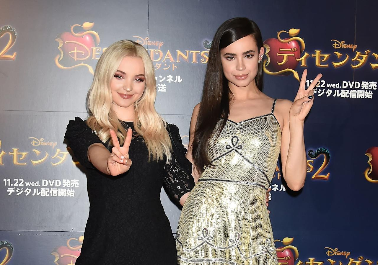 "<ul> <li><strong>On</strong> <a href=""http://www.seventeen.com/celebrity/a28538868/dove-cameron-descendants-disney/"" target=""_blank"" class=""ga-track"" data-ga-category=""Related"" data-ga-label=""http://www.seventeen.com/celebrity/a28538868/dove-cameron-descendants-disney/"" data-ga-action=""In-Line Links"">how she and Sofia supported each other after Cameron Boyce's death</a>: ""Me, Boo Boo, Cam, and Sofia still have our core four group chat active and open, as we have for 5 years. It's hard when there are no adequate words to express the pain we are all feeling, but the usual text is 'love you.' Or 'Are you eating?' Or 'How are we all today?' I think something like this horrible loss makes you realize how important you are all to each other. I am grateful for my chosen family at a time like this."" </li> <li><strong>On</strong> <a href=""http://www.justjaredjr.com/2017/05/19/dove-cameron-has-two-special-connections-with-sofia-carson-china-anne-mcclain/"" target=""_blank"" class=""ga-track"" data-ga-category=""Related"" data-ga-label=""http://www.justjaredjr.com/2017/05/19/dove-cameron-has-two-special-connections-with-sofia-carson-china-anne-mcclain/"" data-ga-action=""In-Line Links"">how Sofia is always in tune with her emotions</a>: ""Sofia . . . can always tell when I'm in a bad mood."" </li> <li><strong>On</strong> <a href=""http://www.accessonline.com/articles/7-descendants-3-secrets-we-learned-from-dove-cameron-sofia-carson-booboo-stewart"" target=""_blank"" class=""ga-track"" data-ga-category=""Related"" data-ga-label=""http://www.accessonline.com/articles/7-descendants-3-secrets-we-learned-from-dove-cameron-sofia-carson-booboo-stewart"" data-ga-action=""In-Line Links"">how she and Sofia mourned the end of <strong>Descendants</strong> together</a>: ""Sofia and I, we laid down on our big musical set, on the bridge. And we held hands, and we were like, 'Let's just stay here until the crew kicks us out.' And we did."" </li> </ul>"