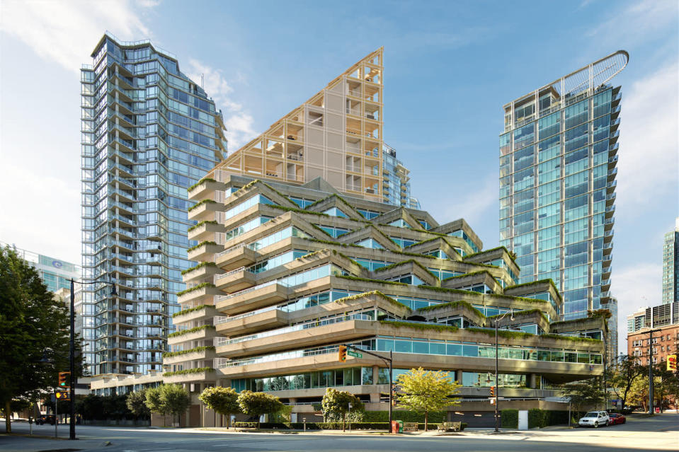 <p>Architect Shigeru Ban's design for Terrace House is intended to complement the design of Arthur Erikson's Evergreen building. (Shigeru Ban Architects) </p>