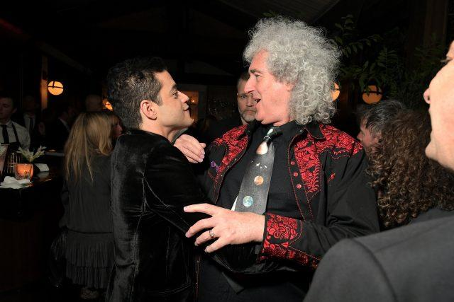 WEST HOLLYWOOD, CA - FEBRUARY 22: (L-R) Rami Malek and Brian May are seen as Vanity Fair and Genesis celebrate the cast of Bohemian Rhapsody on February 22, 2019 in Los Angeles, California. (Photo by Charley Gallay/Getty Images for Vanity Fair)