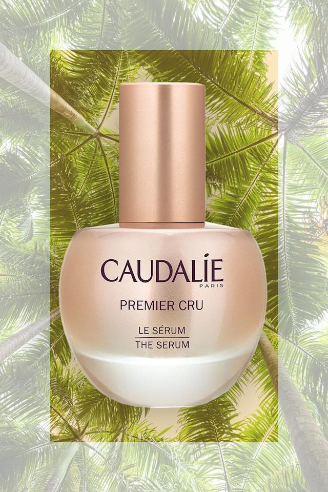"""<p><em>Caudalie Premier Cru Serum<br></em><a rel=""""nofollow"""" href=""""https://www.sephora.com/product/premier-cru-serum-P427509"""">SHOP NOW</a> $150</p><p>Being in the desert is fabulous - but bone dry skin definitely isn't. I'm all about maintaining my skin care routine when I travel, and I'll occasionally <strong>tweak the products I pack based on the destination </strong>I'm headed to. In the case of Palm Springs, it's all about hydration. This <strong>silky serum has anti-aging benefits</strong> and also feels like a skin quencher.</p>"""
