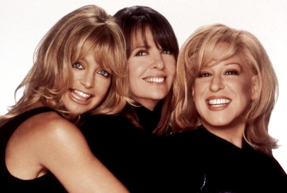 <p>Goldie Hawn, Diane Keaton, and Bette Midler portray three divorced women who seek revenge on their ex-husbands, who left them for younger women. Spoiler alert: When they realize that revenge would make them no better than their husbands, they push their exes to help fund a nonprofit organization to support abused women. <i>(Source: Everett Collection)</i></p>