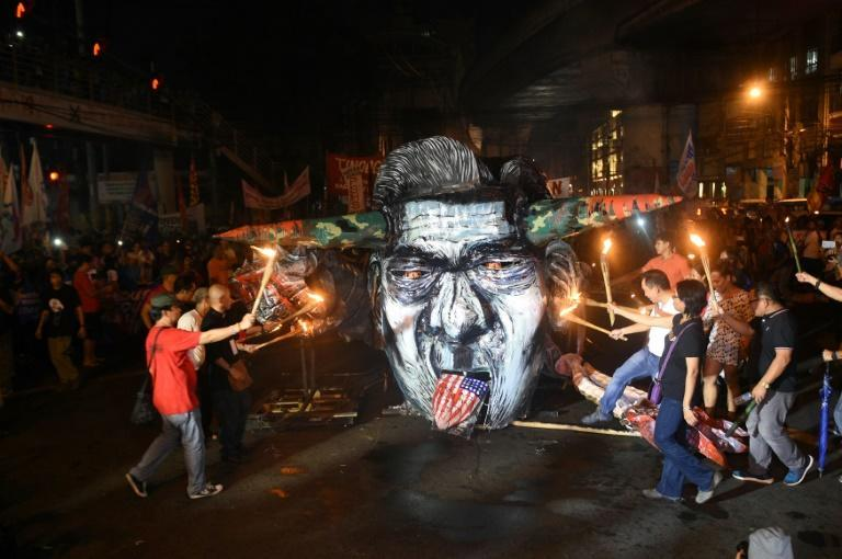Ex-dictator Ferdinand Marcos was toppled and chased into exile in 1986 by a popular uprising (AFP/TED ALJIBE)