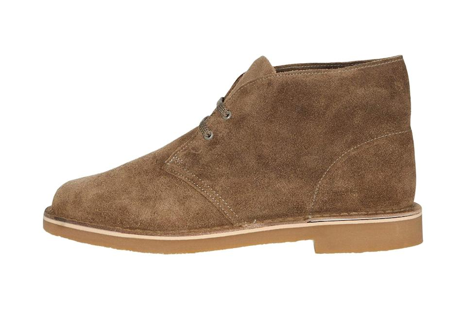 """$110, Zappos. <a href=""""https://www.zappos.com/p/clarks-bushacre-3-sand-waxy-suede/product/9422888/color/612847"""" rel=""""nofollow noopener"""" target=""""_blank"""" data-ylk=""""slk:Get it now!"""" class=""""link rapid-noclick-resp"""">Get it now!</a>"""