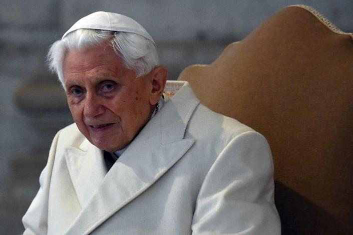 Even Benedict's supporters said he should have used his given name, Joseph Ratzinger, when signing his contribution to the book (AFP Photo/VINCENZO PINTO)