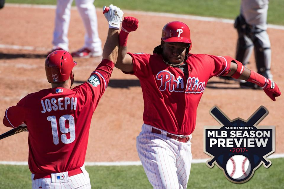 The Phillies are rebuilding but their youngsters could impress. (AP)