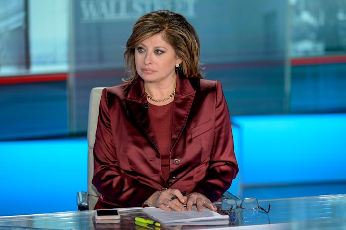 Maria Bartiromo at Fox Business Network Studios on January 10, 2020 in New York City. (Photo by Roy Rochlin/Getty Images)