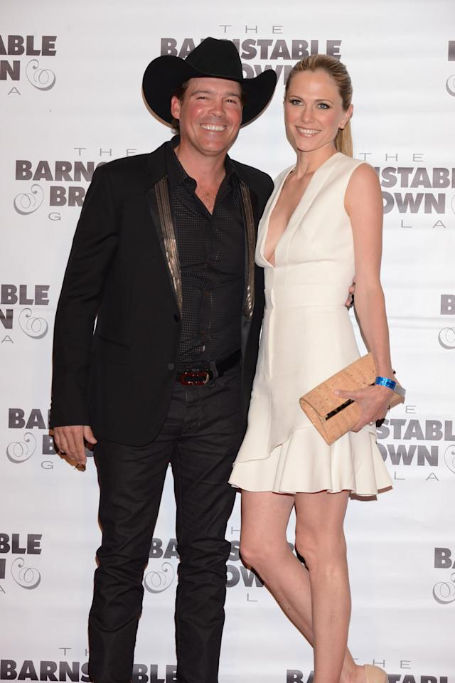 LOUISVILLE, KY - MAY 02: Recording artist Clay Walker and Jessica Craig attend the Barnstable Brown Kentucky Derby Eve Gala at Barnstable Brown House on May 2, 2014 in Louisville, Kentucky. (Photo by Vivien Killilea/Getty Images)