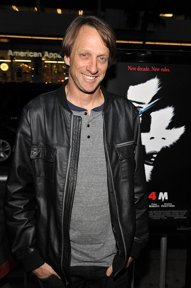 "Pro skateboarder <a href=""http://movies.yahoo.com/movie/contributor/1800271156"">Tony Hawk</a> was just one of the many athletes in attendance."