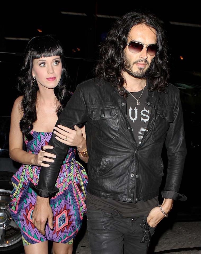 "Katy Perry, with her husband-to-be Russell Brand, won the No. 1 spot on <i>Maxim</i> magazine's <a href=""http://omg.yahoo.com/blogs/a-line/katy-perry-tops-magazines-hot-100-list/472"">annual ""Hot 100"" list</a>. <i>Maxim</i>'s Editor-in-Chief Joe Levy explained Perry's appeal as more than just about her looks: ""It's that feeling you get when you suddenly realize that the smartest, funniest, coolest girl you know also happens to be the best looking and a pretty good skateboarder, too."" Ice-RS/<a href=""http://www.x17online.com"" target=""new"">X17 Online</a> - May 8, 2010"