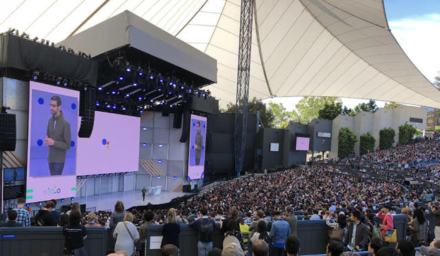The keynote speech at Google's I/O conference drew 7,000 spectators.