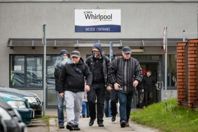 Threat of Whirlpool partially outsourcing French production to Poland has become a hot-button issue in France's presidential campaign