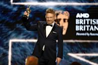 BEVERLY HILLS, CA - OCTOBER 27: Kenneth Branagh accepts Albert R. Broccoli Britannia Award for Worldwide Contribution to Entertainment onstage at the 2017 AMD British Academy Britannia Awards Presented by American Airlines And Jaguar Land Rover at The Beverly Hilton Hotel on October 27, 2017 in Beverly Hills, California. (Photo by Frederick M. Brown/Getty Images)