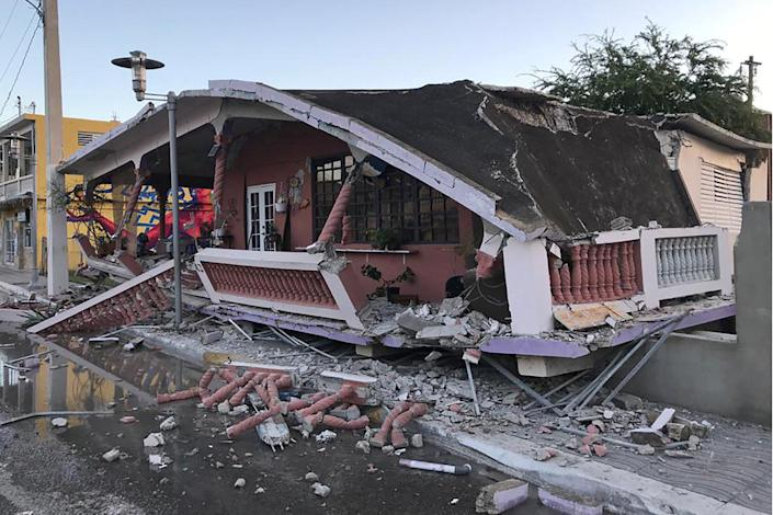 IMAGE: Earthquake in Guanica, Puerto Rico (Reuters TV)