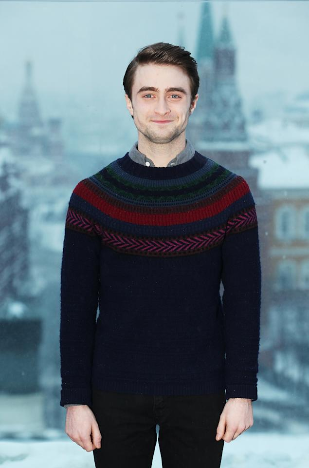 MOSCOW, RUSSIA - FEBRUARY 16: Actor Daniel Radcliffe poses during the Woman in Black photocall on the roof of Ritz hotel on February 16, 2012 in Moscow, Russia,  (Photo by Oleg Nikishin/Epsilon/Getty Images)