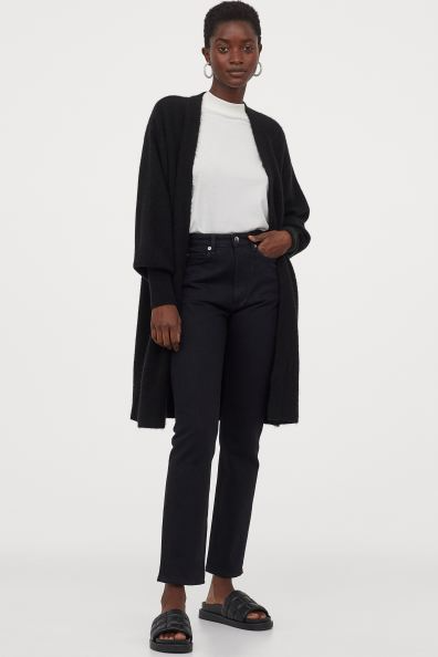 "<br><br><strong>H&M</strong> Long Cardigan, $, available at <a href=""https://go.skimresources.com/?id=30283X879131&url=https%3A%2F%2Fwww2.hm.com%2Fen_us%2Fproductpage.0863595006.html"" rel=""nofollow noopener"" target=""_blank"" data-ylk=""slk:H&M"" class=""link rapid-noclick-resp"">H&M</a>"