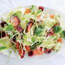 """Sprinkling the fruit with salt helps bring out its juicy sweetness. Watercress adds a much-appreciated peppery note. <a href=""""https://www.epicurious.com/recipes/food/views/fruit-salad-with-fennel-watercress-and-smoked-salt-56389670?mbid=synd_yahoo_rss"""" rel=""""nofollow noopener"""" target=""""_blank"""" data-ylk=""""slk:See recipe."""" class=""""link rapid-noclick-resp"""">See recipe.</a>"""
