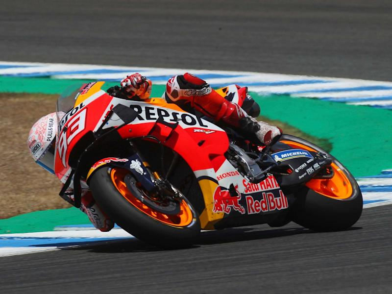 Marc Marquez suffered a broken arm and possible nerve damage in the opening MotoGP race of the season: AP