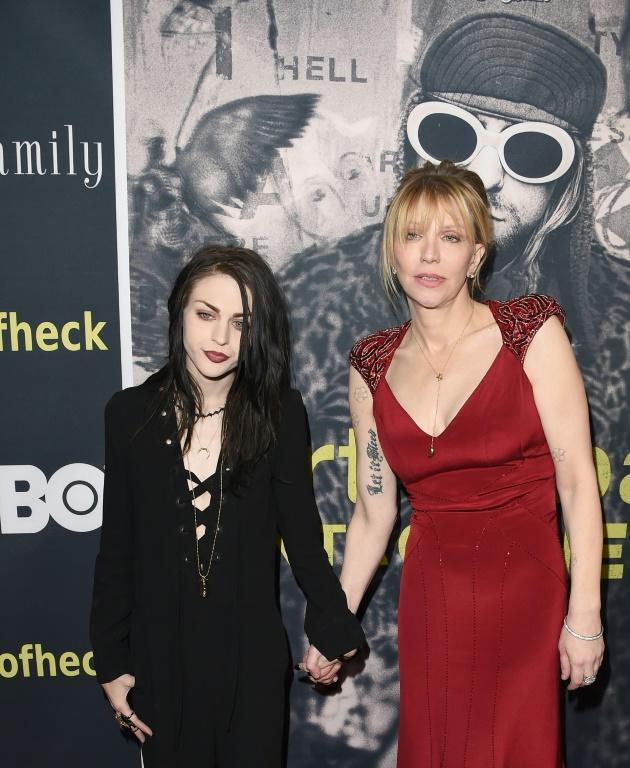 Cobain's widow Courtney Love suggested in her eulogy that he should have stopped being a rock star if he was so bothered about selling out (AFP/Jason Merritt)