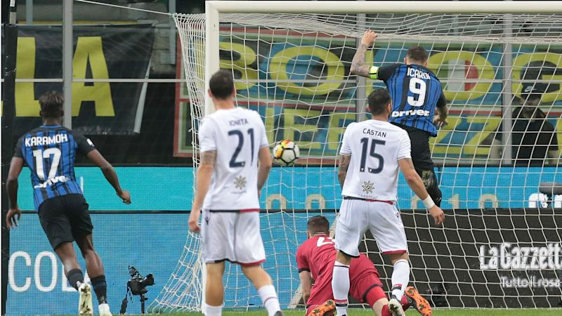 Inter 4 Cagliari 0: Icardi shines as Nerazzurri climb to third