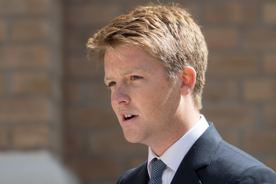 LEEDS, ENGLAND - JUNE 21: Hugh Grosvenor, the Duke of Westminster speaks during the official handover to the nation of the newly built Defence and National Rehabilitation Centre (DNRC) at the Stanford Hall Estate on June 21, 2018 in Leeds, England. The centre will provide world-class rehabilitation facilities for members of the Armed Forces who have suffered major trauma or injury during their service. (Photo by Oli Scarff - WPA Pool/Getty Images)