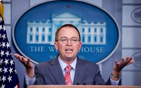 """<span>Mick Mulvaney said the president wanted to use Doral to """"put on the absolute best show"""" for world leaders</span> <span>Credit: Michael Reynolds/REX </span>"""
