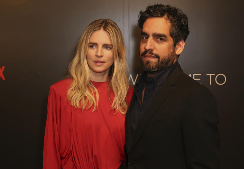 Brit Marling, left, and Zal Batmanglij arrive at the Netflix FYSee Kick-Off Event on Sunday, May 7, 2017, in Beverly Hills, Calif. (Photo by Willy Sanjuan/Invision/AP)