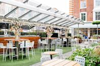 """<p>For those of us who are still feeling a little deflated after our invitations <em>clearly</em> got lost in the post), make sure to check out the Bluebird Chelsea's rather royal event.<br>The cafe and courtyard will be decked with bunting on May 19 and following a screening of the wedding, guests can enjoy a live DJ from 4pm accompanied with a BBQ. For those hoping to toast the newlyweds, you'll be pleased to learn that the Bluebird is also serving up Botanist Royal Wedding cocktails throughout the day. <a rel=""""nofollow noopener"""" href=""""https://www.bluebird-restaurant.co.uk/event/the-royal-wedding/"""" target=""""_blank"""" data-ylk=""""slk:Tickets"""" class=""""link rapid-noclick-resp"""">Tickets</a> start at £25. <em>[Photo: Bluebird Chelsea]</em> </p>"""