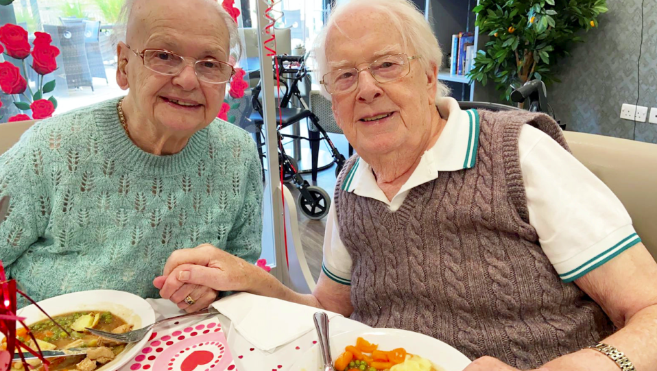 Betty and Kenneth Meredith have been married for 71 years. (SWNS)