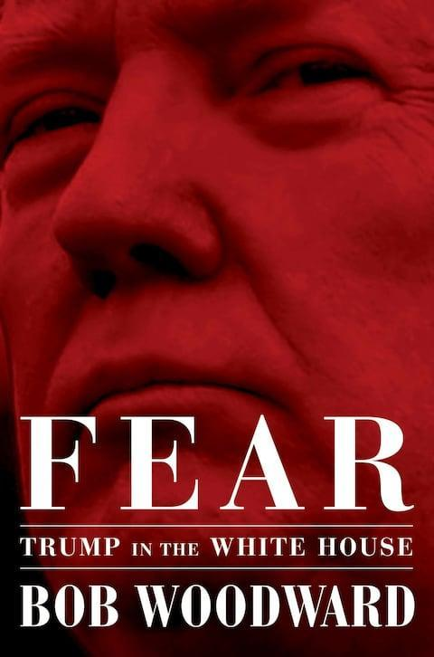 <span>The cover of Bob Woodward's 448-page book on Donald Trump</span> <span>Credit: Simon & Schuster </span>
