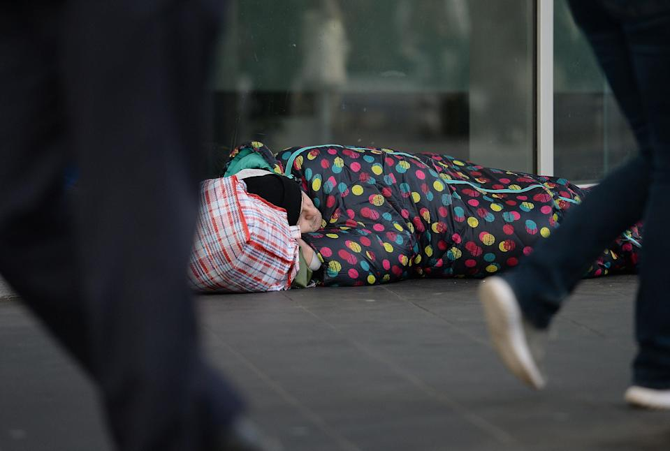 <p>Some councils have reported higher levels of rough sleeping than before the pandemic</p> (PA)