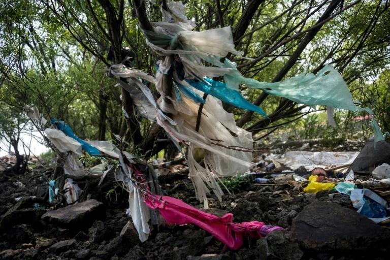 China produced just 30 million tonnes of trash in 1980 but the World Bank warns that figure could reach a staggering 500 million tonnes annually by 2030 (AFP Photo/Johannes EISELE)