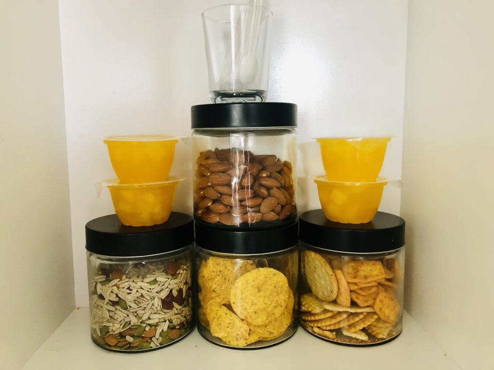 """<span>Organise snacks that are easy to pick-and-pack from. </span>Source: Supplied/<a href=""""http://instagram.com/peninapetersen"""" rel=""""nofollow noopener"""" target=""""_blank"""" data-ylk=""""slk:Penina Petersen"""" class=""""link rapid-noclick-resp""""><span>Penina Petersen</span></a>"""