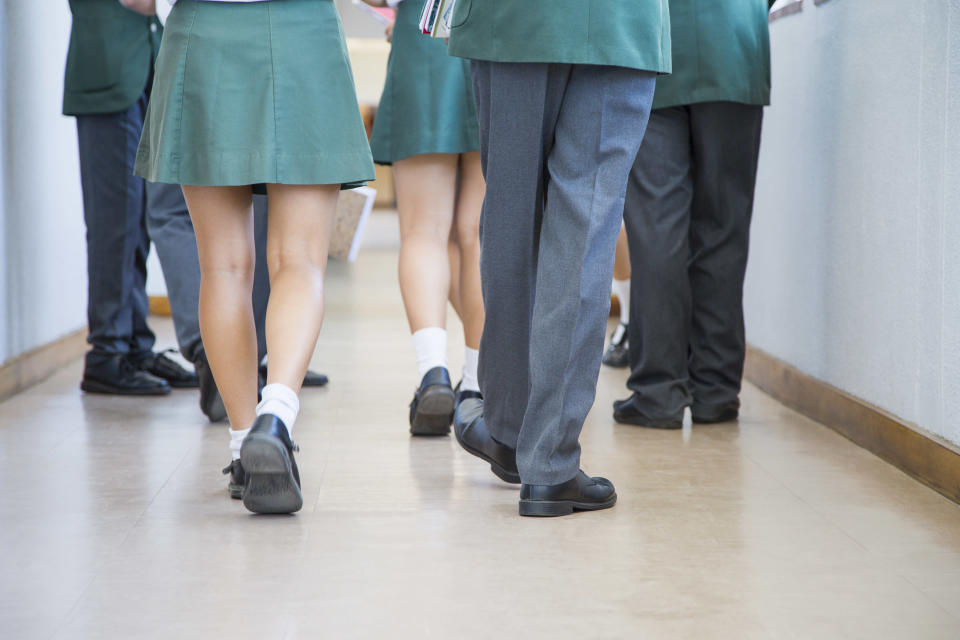 Could this be the end of the school skirt? [Photo: Getty]