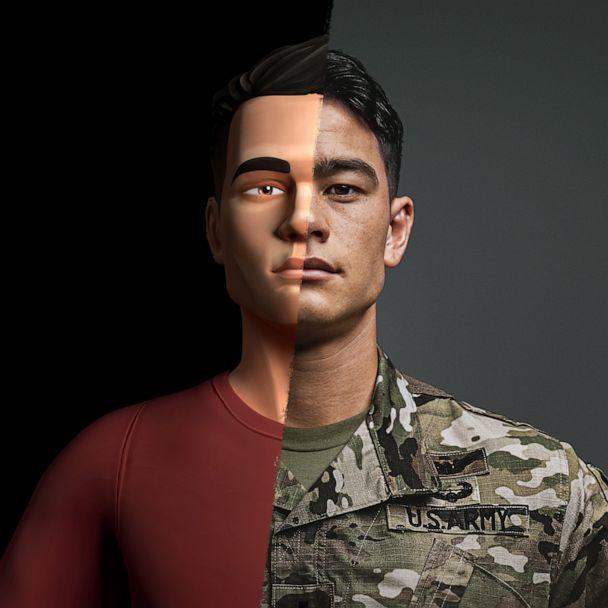 PHOTO: 2 1Lt. David Toguchi, a U.S. Army helicopter pilot, who is profiled as part the Army's new 'The Calling' recruiting campaign that tells soldiers personal stories in animated form in an effort to appeal to Generation Z. (US Army)