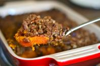 "<p>The most classic of Thanksgiving dishes, the sweet potato casserole, gets an adult update with Jaymee Sire's Grand Marnier version of the dish. Adding this orange-flavored liqueur will bring out the flavor of the sweet potato, while the bitterness of the alcohol will play nicely off the sweetness of the dish. <br><br><a href="" http://www.eisforeat.com/2011/11/g-is-for-grand-marnier-cranberries.html?m=1"" rel=""nofollow noopener"" target=""_blank"" data-ylk=""slk:Get the recipe"" class=""link rapid-noclick-resp"">Get the recipe</a> </p>"