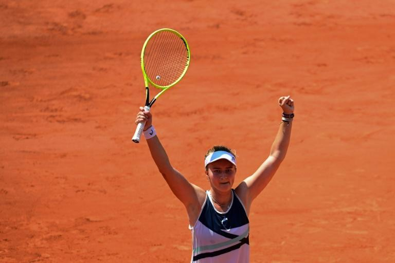 Double trouble: Barbora Krejcikova has reached the last four in both singles and doubles at Roland Garros