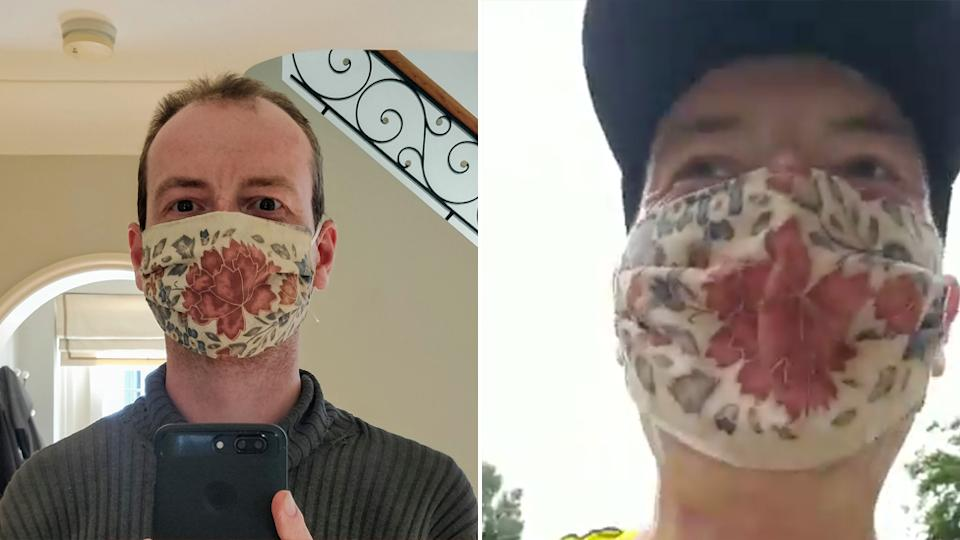 Dr Tom Lawton, the doctor who ran 35km with a mask to prove they don't stop oxygen.