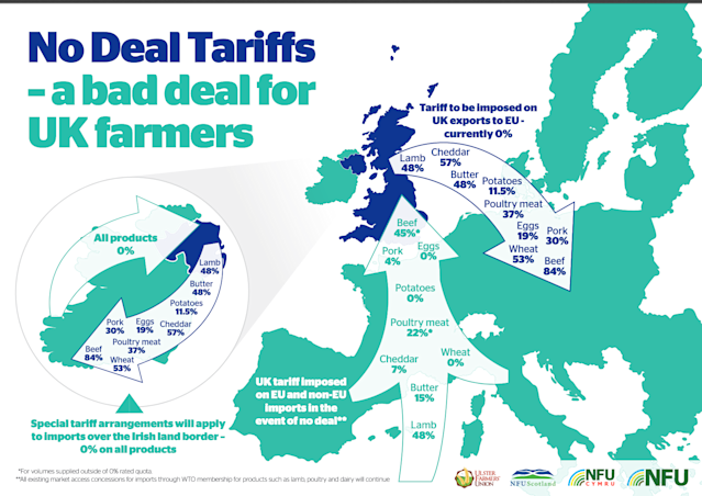 NFU analysis of tariff barriers after a no-deal Brexit. Photo: NFU