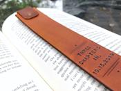 <p>If your dad is a bookworm, he'll adore this <span>Personalized Custom Leather Bookmark</span> ($32) and use it often.</p>