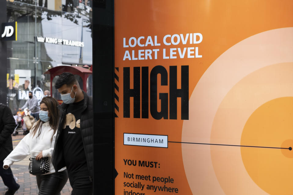 With coronavirus cases rising across the country more and more areas are being moved on to tier 2 and 3 lockdowns. (Getty)