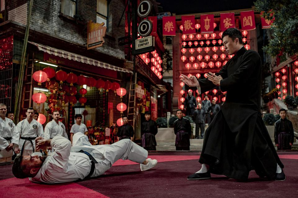 Donnie Yen (right) as Ip Man and Chris Collins as Colin Frater in Ip Man 4: The Finale. (PHOTO: Shaw Organisation)